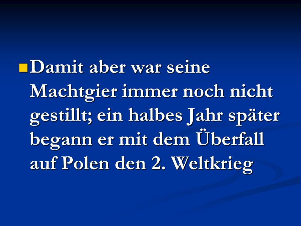 ÜBERFALL AUF POLEN Überraschenderweise antworteten Deutschlands Gegner aus dem 1.