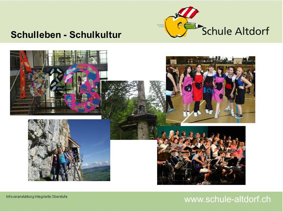 Schulleben - Schulkultur Infoveranstaltung Integrierte Oberstufe