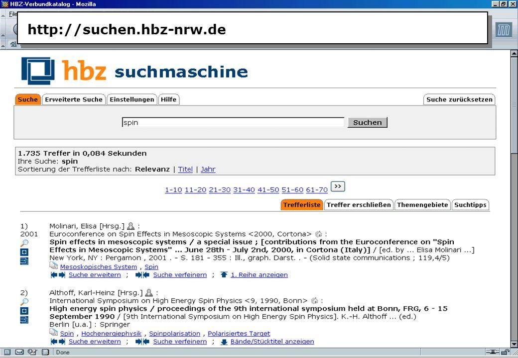 Christine Burblies ASpB September 2005 http://suchen.hbz-nrw.de