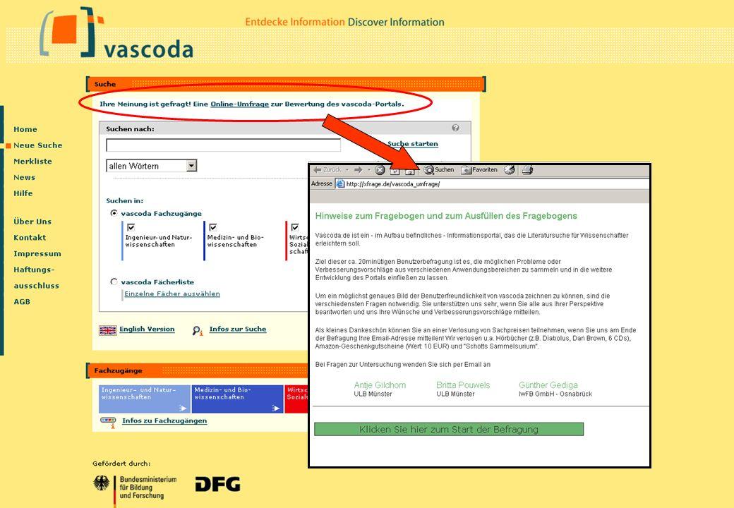 Christine Burblies ASpB September 2005 Nutzerbefragung vascoda muss verbessert werden durch: