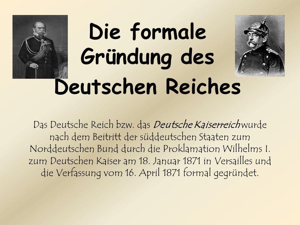Das Deutsche Reich bzw.