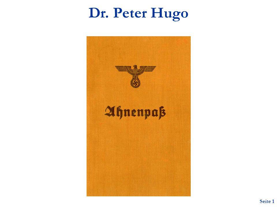 Seite 1 Dr. Peter Hugo