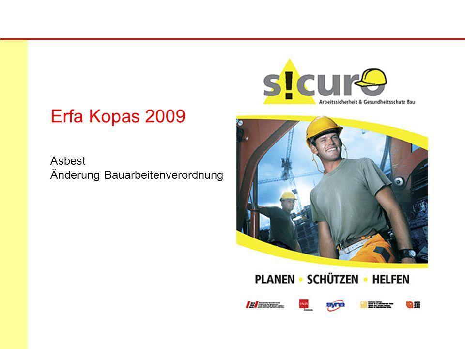 Erfa Kopas 2009 Asbest Änderung Bauarbeitenverordnung