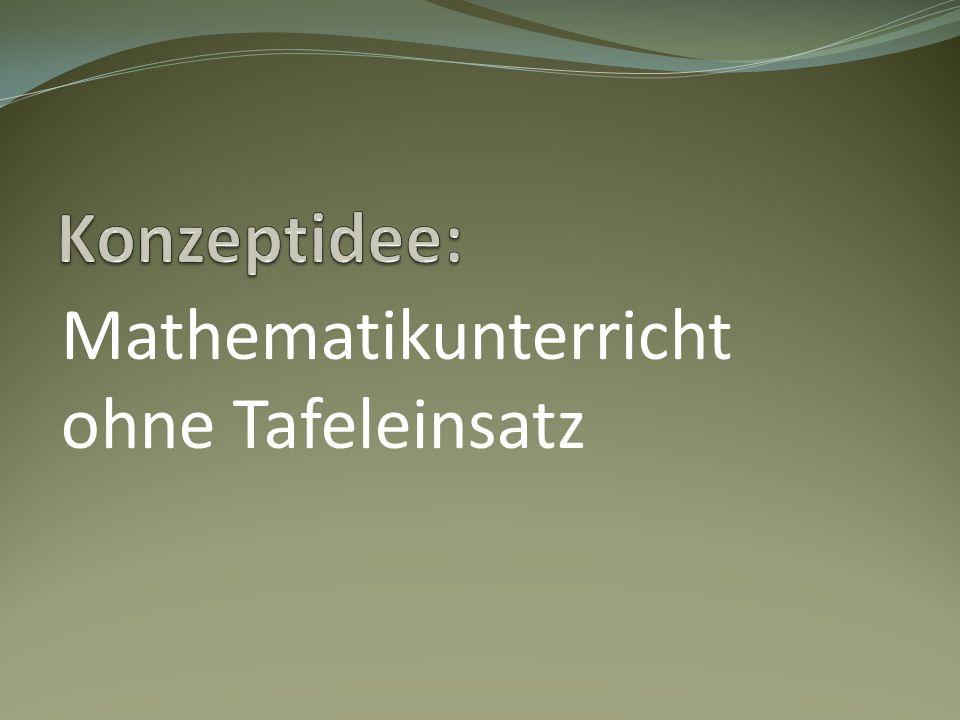Mathematikunterricht ohne Tafeleinsatz