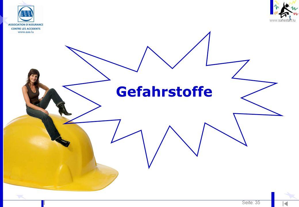www.safestart.lu Seite: 35 Gefahrstoffe