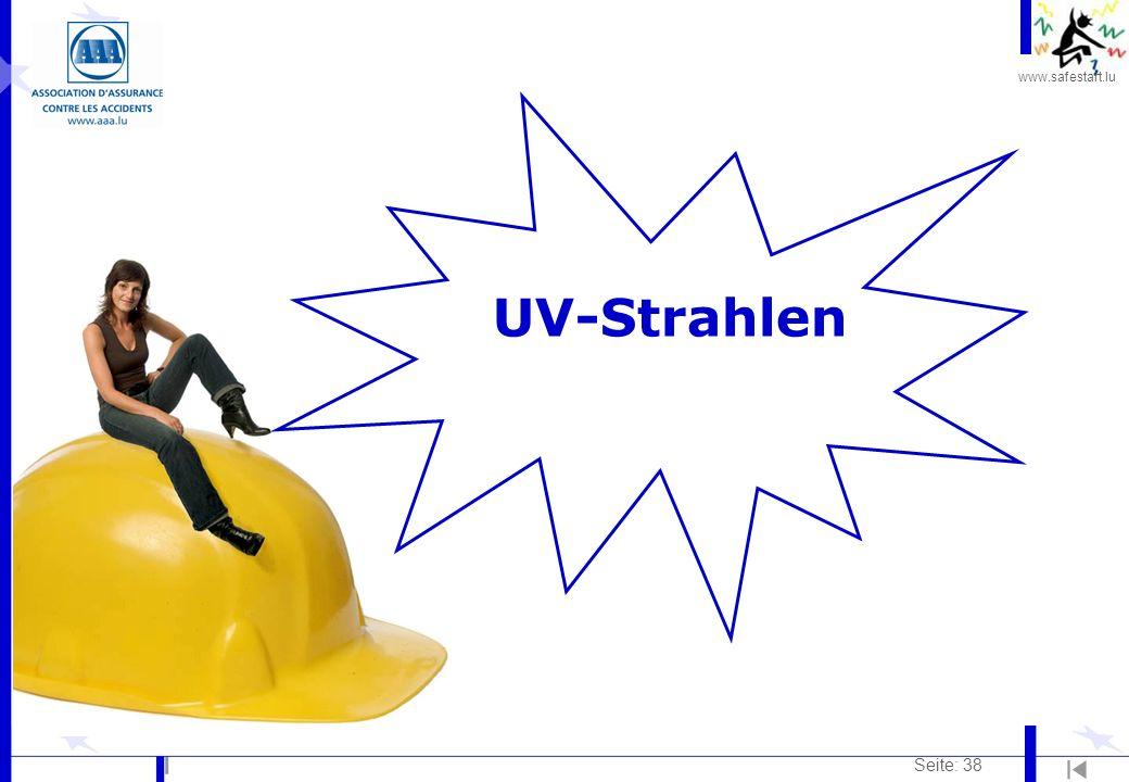 www.safestart.lu Seite: 38 UV-Strahlen