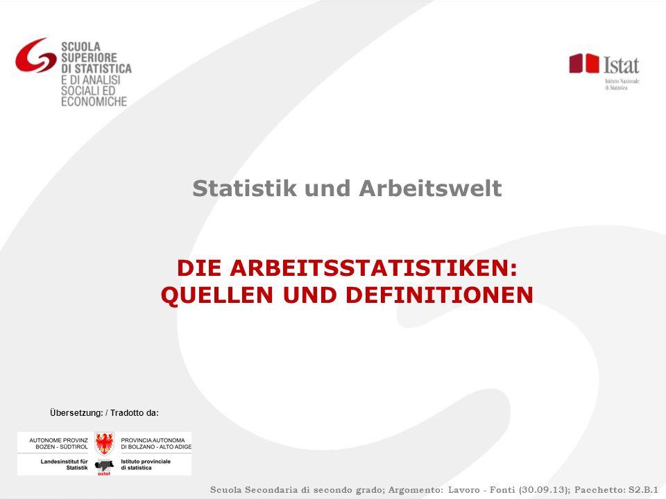 Bibliografie Istat: La rilevazione sulle forze di lavoro: contenuti, metodologie, organizzazione.