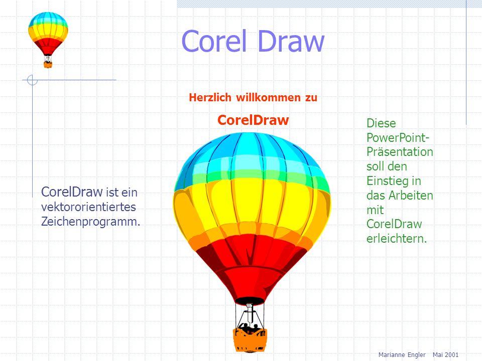 Corel Draw Herzlich willkommen zu CorelDraw Diese PowerPoint- Präsentation soll den Einstieg in das Arbeiten mit CorelDraw erleichtern.