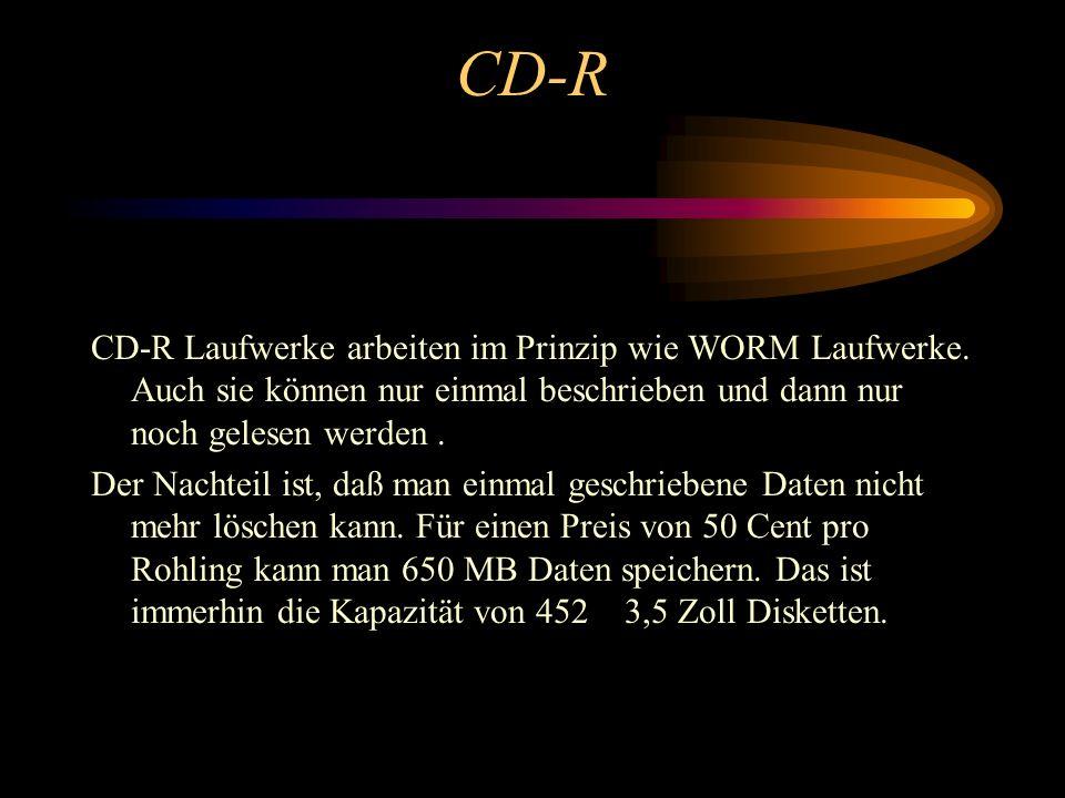 Die Compact Disc Die Compact Disc (kurz CD) ist heute neben Festplatten das wichtigste Speichermedium. Sie kann bis zu 650 MByte Daten oder bis zu 74