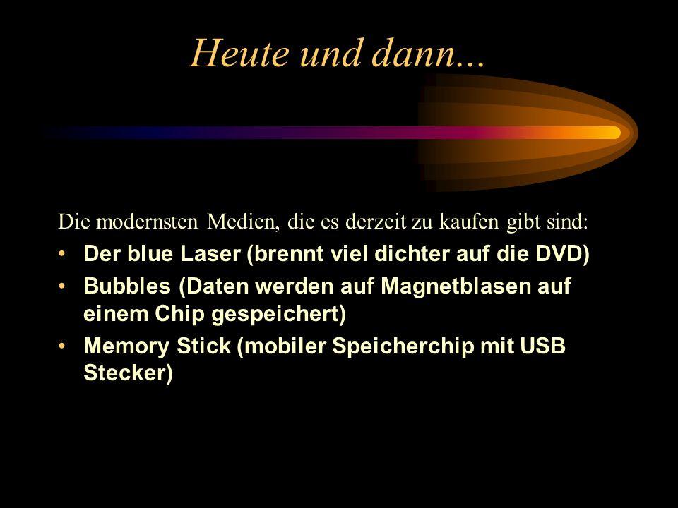 Digital Versatile Disc - DVD Die DVD hat die gleichen Abmessungen wie eine CD, kann jedoch ein vielfaches an Daten speichern. Dazu wurden die Pits auf