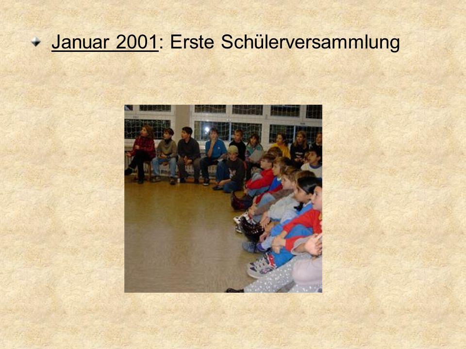 Schülerversammlung Für die ersten und zweiten Klassen, die dritten und vierten Klassen Themen sind u.a.