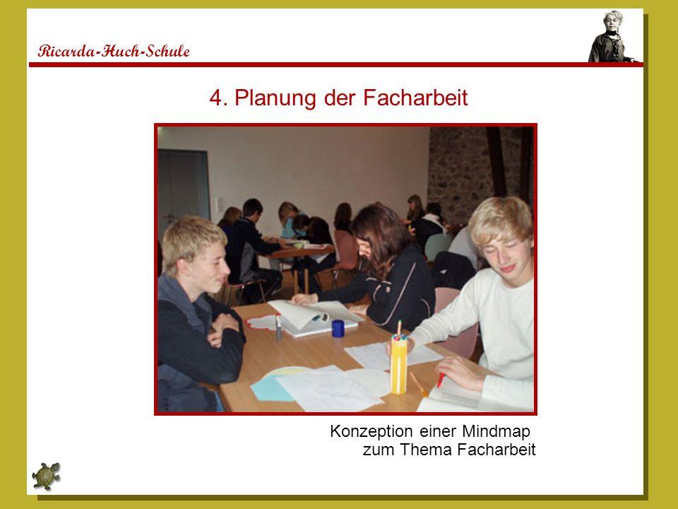 Ricarda-Huch-Schule 4. Planung der Facharbeit Konzeption einer Mindmap zum Thema Facharbeit