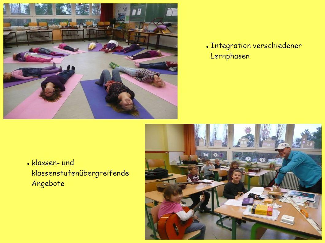 klassen- und klassenstufenübergreifende Angebote Integration verschiedener Lernphasen