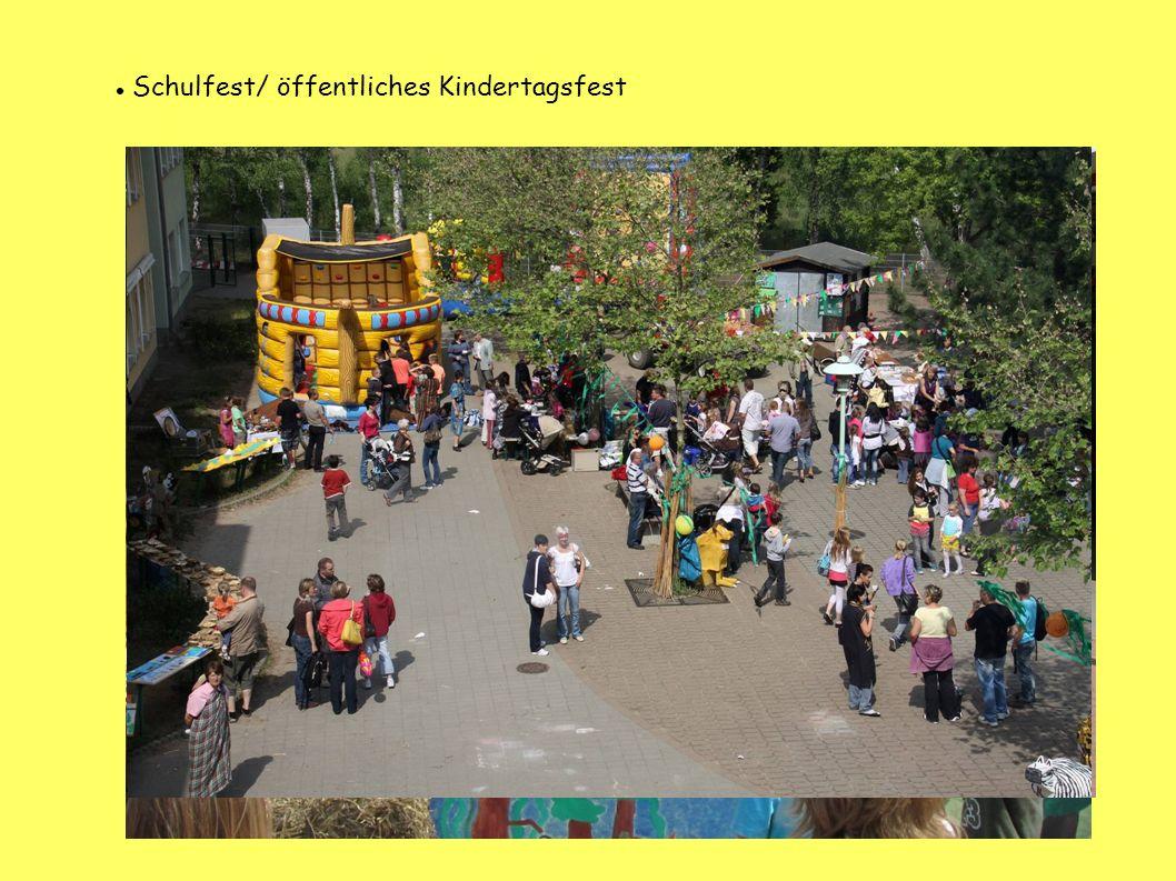 Schulfest/ öffentliches Kindertagsfest
