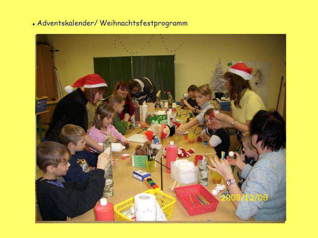 Adventskalender/ Weihnachtsfestprogramm