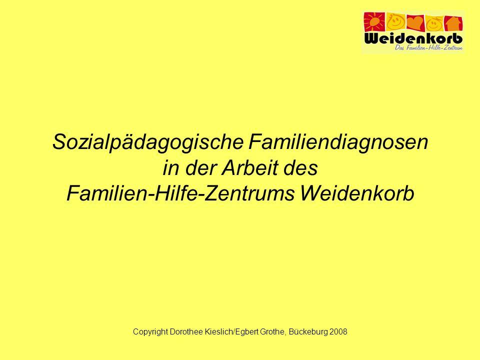 Sozialpädagogische Familiendiagnosen in der Arbeit des Familien-Hilfe-Zentrums Weidenkorb Copyright Dorothee Kieslich/Egbert Grothe, Bückeburg 2008