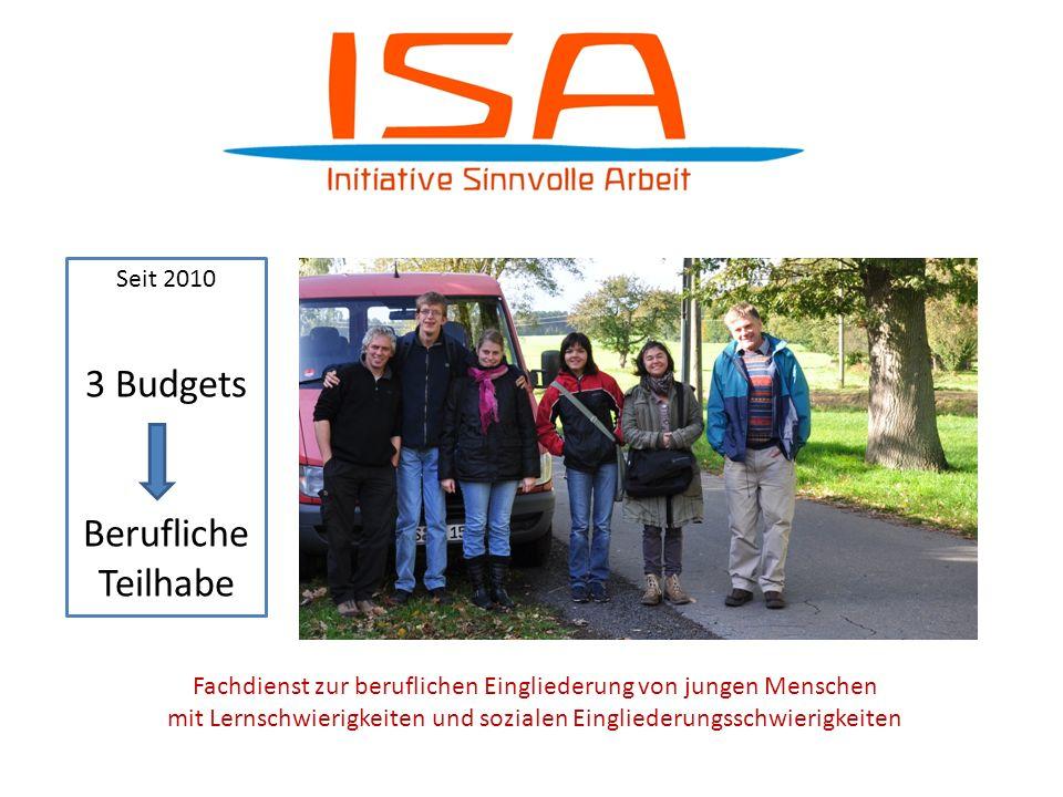 Seit 2010 3 Budgets für berufliche Teilhabe Seit 2010 3 Budgets Berufliche Teilhabe