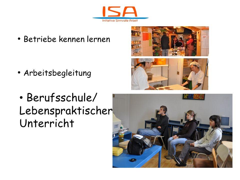 Betriebe kennen lernen Arbeitsbegleitung Berufsschule/ Lebenspraktischer Unterricht