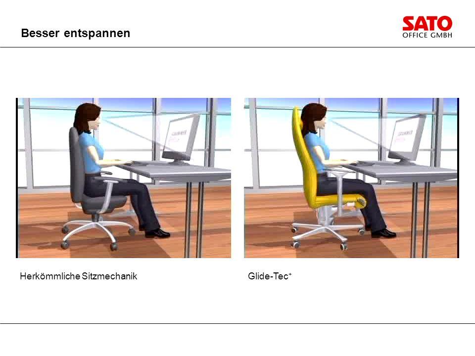 Herkömmliche Sitzmechanik Besser entspannen Glide-Tec +