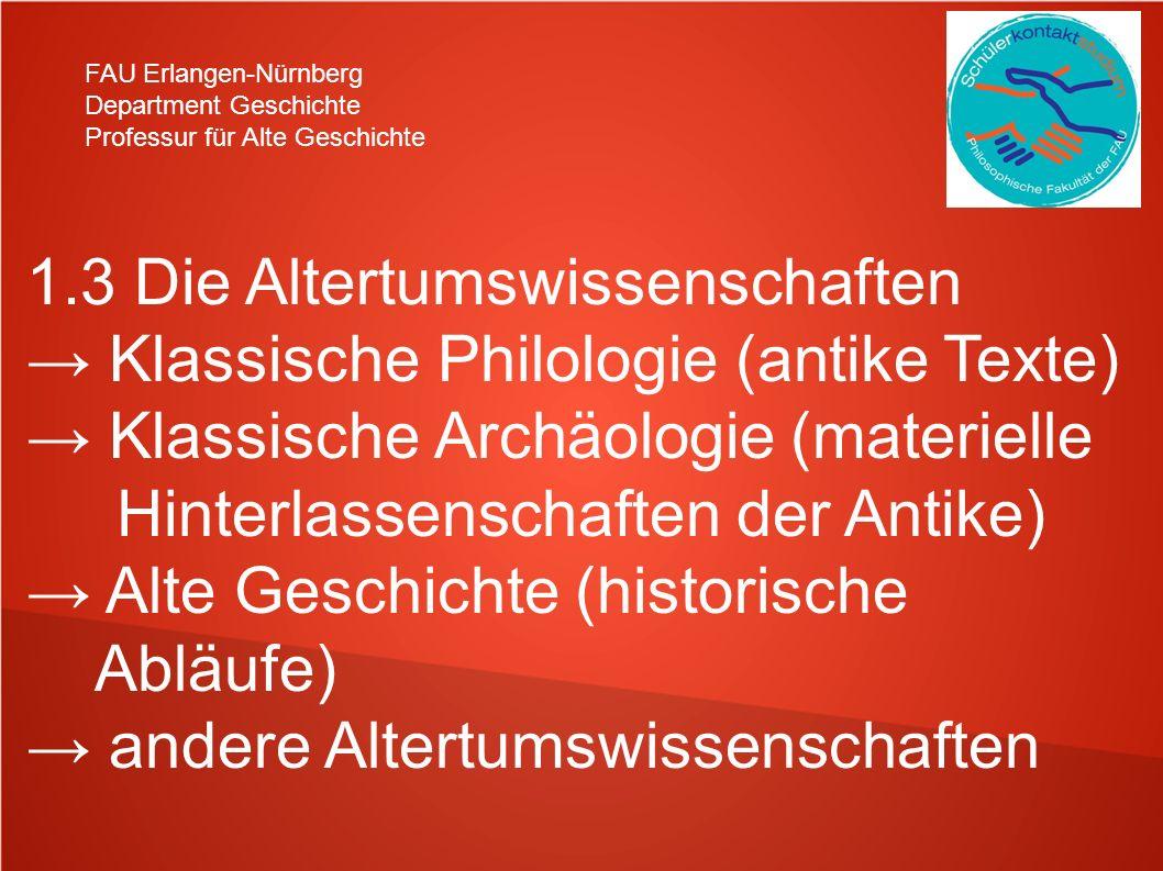 FAU Erlangen-Nürnberg Department Geschichte Professur für Alte Geschichte 2.) Kriterien für eine (gute) wissen- schaftliche Arbeit nachvollziehbar erkenntnisorientiert belegbare Ergebnisse eigenständige Leistung