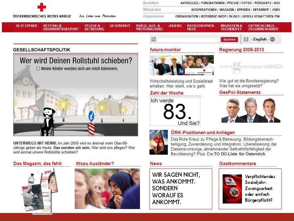 future.monitor Wirtschaftsleistung und Sozialstaat erhalten: Hier steht, wie´s geht. Regierung 2008-2013 Wie gut ist die Bundesregierung? Was hat sie