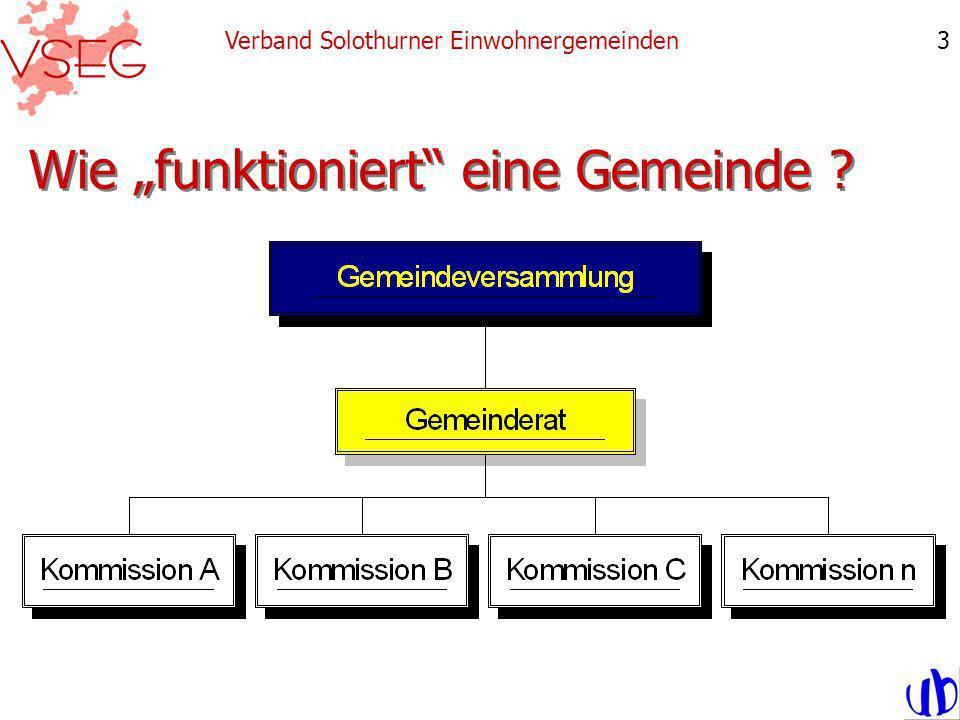 Wie funktioniert eine Gemeinde ? Verband Solothurner Einwohnergemeinden3