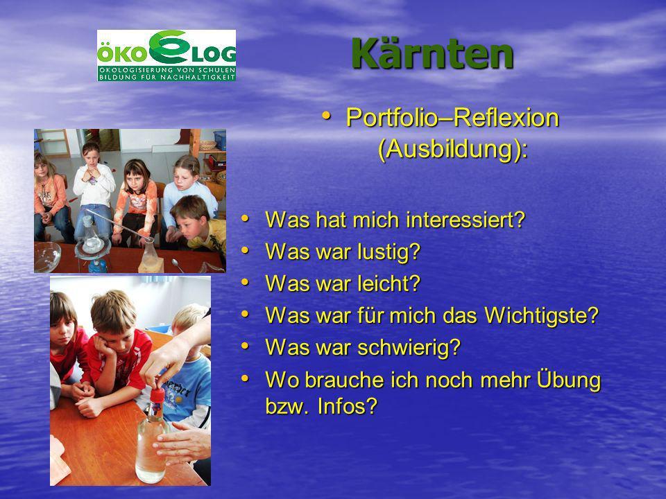 Kärnten Kärnten Portfolio–Reflexion (Ausbildung): Portfolio–Reflexion (Ausbildung): Was hat mich interessiert? Was hat mich interessiert? Was war lust