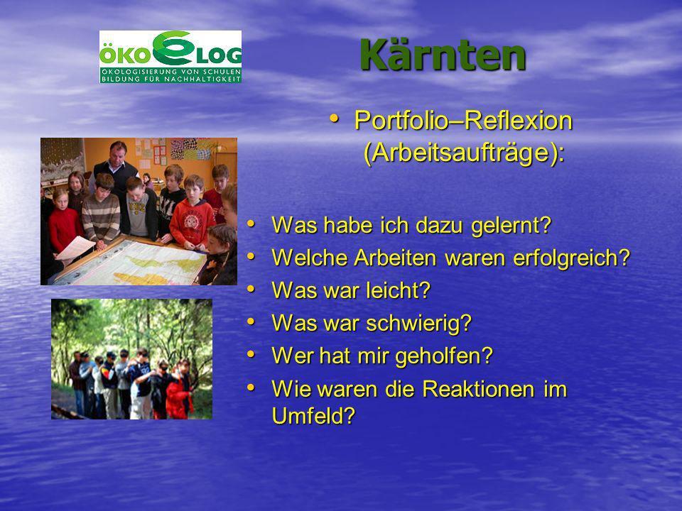 Kärnten Kärnten Portfolio–Reflexion (Arbeitsaufträge): Portfolio–Reflexion (Arbeitsaufträge): Was habe ich dazu gelernt? Was habe ich dazu gelernt? We