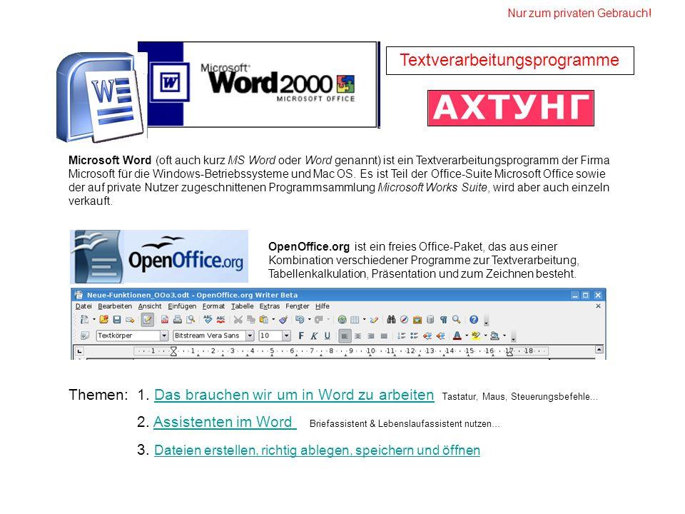 Microsoft Word (oft auch kurz MS Word oder Word genannt) ist ein Textverarbeitungsprogramm der Firma Microsoft für die Windows-Betriebssysteme und Mac