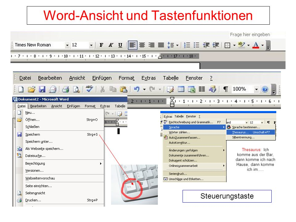 Brauchbare Steuerungstaste - Befehle Die Strg-Taste befindet sich in den beiden Ecken links und rechts unten auf der Tastatur.