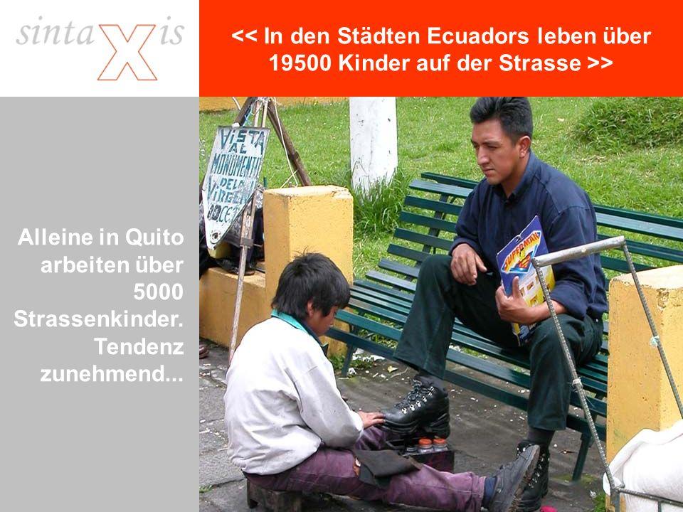 > Alleine in Quito arbeiten über 5000 Strassenkinder. Tendenz zunehmend...