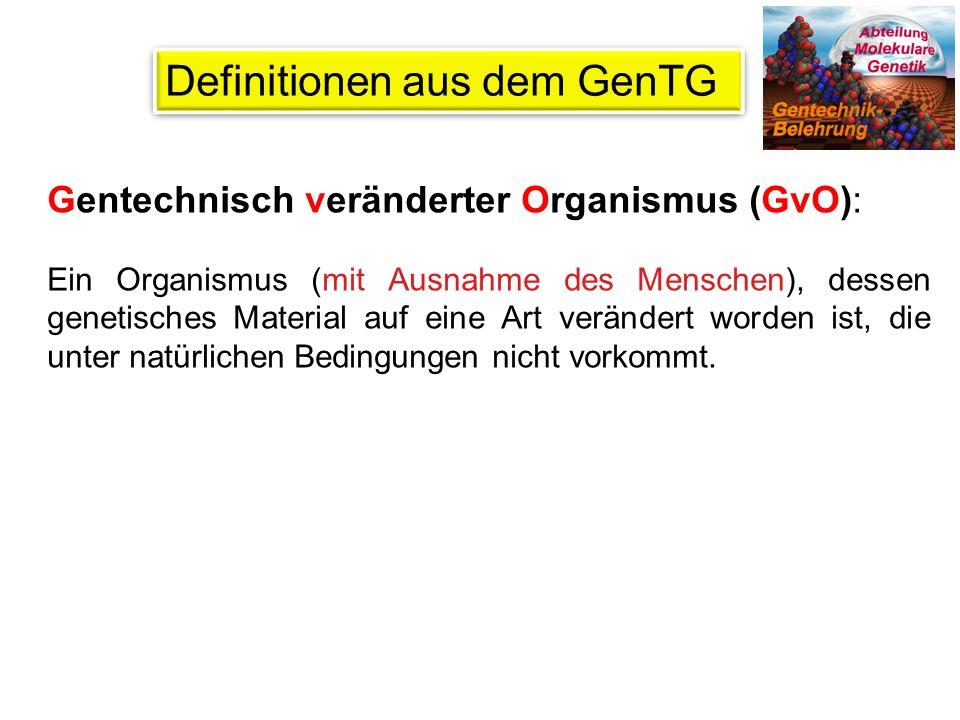 Gentechnische Arbeiten dürfen nur in dafür zugelassenen und entsprechend gekennzeichneten Räumen durchgeführt werden.