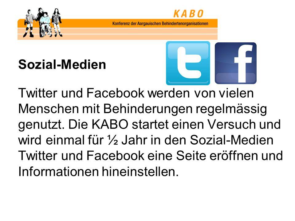 Sozial-Medien Twitter und Facebook werden von vielen Menschen mit Behinderungen regelmässig genutzt.