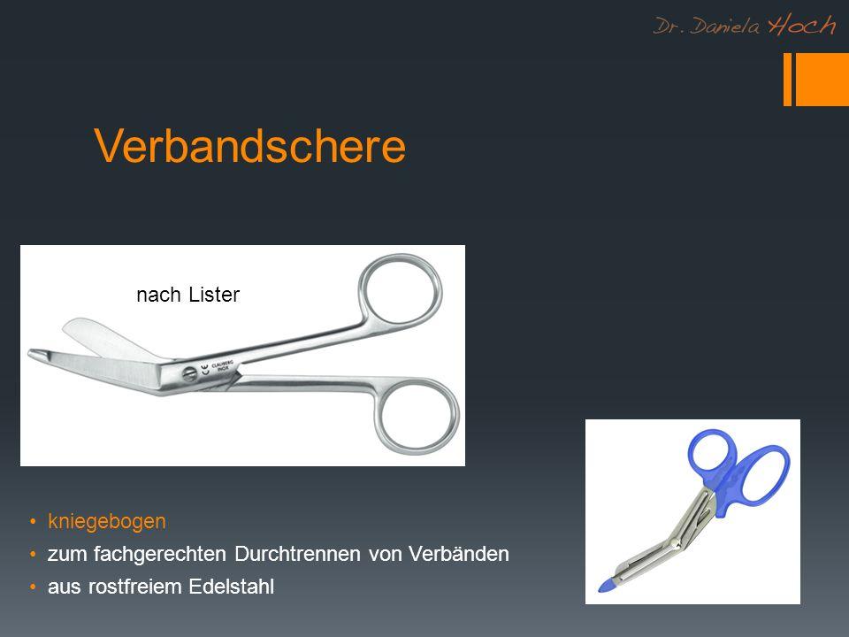 Verbandschere nach Lister kniegebogen zum fachgerechten Durchtrennen von Verbänden aus rostfreiem Edelstahl