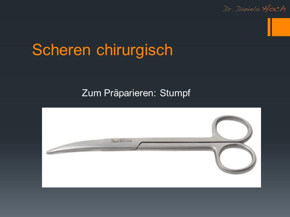 Scheren chirurgisch Zum Präparieren: Stumpf