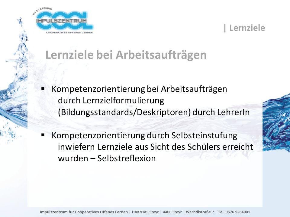 gtn gmbh Lernziele bei Arbeitsaufträgen Kompetenzorientierung bei Arbeitsaufträgen durch Lernzielformulierung (Bildungsstandards/Deskriptoren) durch L