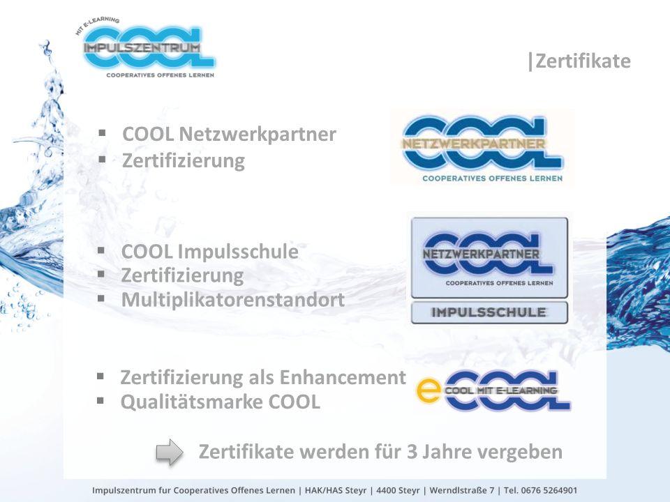 gtn gmbh COOL Netzwerkpartner Zertifizierung COOL Impulsschule Zertifizierung Multiplikatorenstandort Zertifikate werden für 3 Jahre vergeben Zertifiz