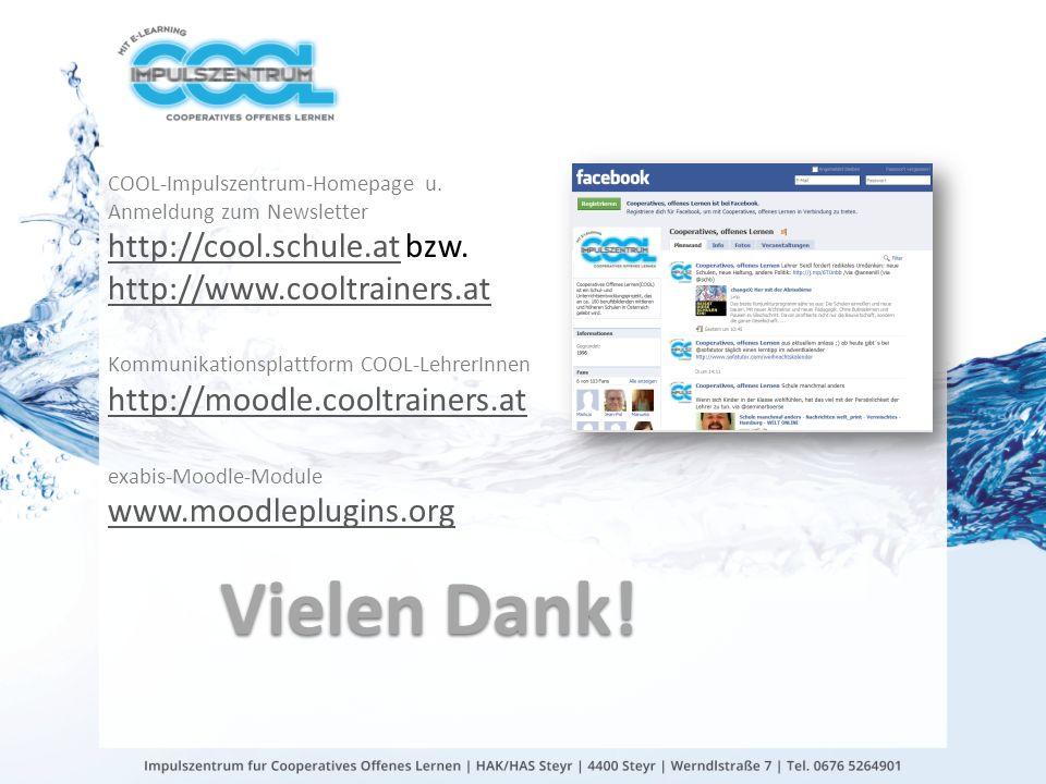 gtn gmbh Vielen Dank! COOL-Impulszentrum-Homepage u. Anmeldung zum Newsletter http://cool.schule.at bzw. http://cool.schule.at http://www.cooltrainers