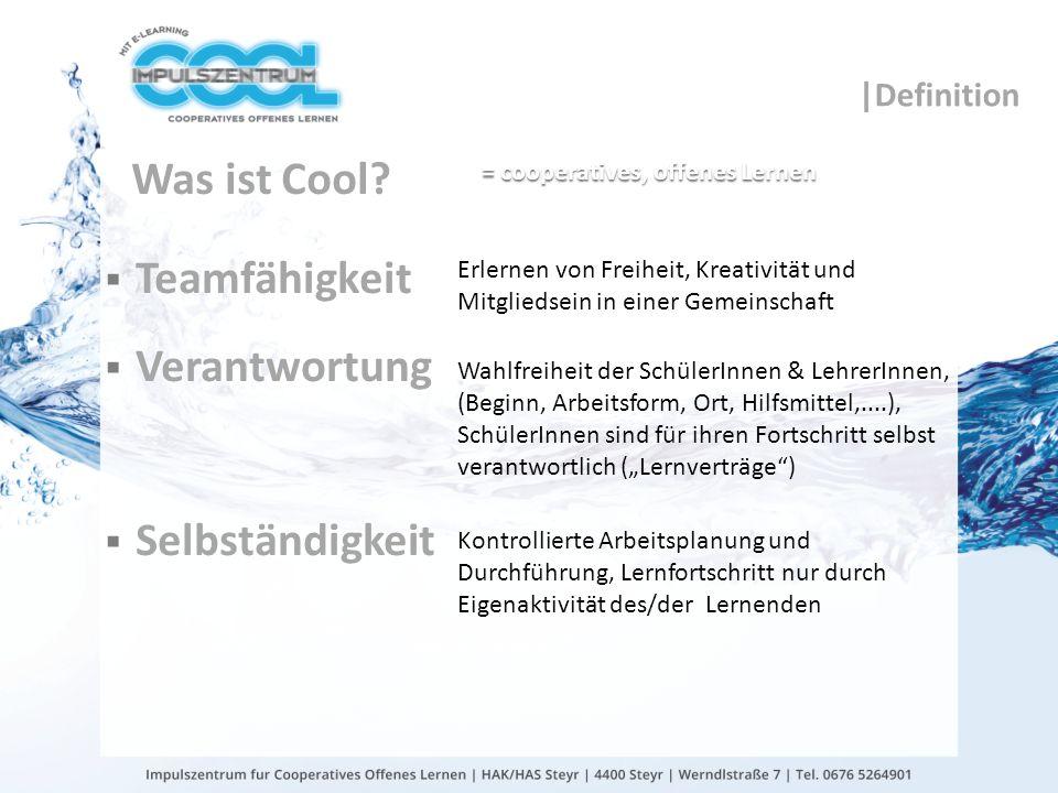 gtn gmbh COOL Qualitätskriterien KlassenlehrerInnenteams mit regelmäßigen Teambesprechungen (zumindest 3x pro Semester) COOL-Ausbildungsnachweis von mind.