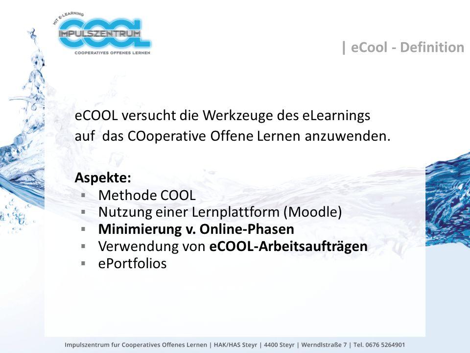 gtn gmbh | eCool - Definition eCOOL versucht die Werkzeuge des eLearnings auf das COoperative Offene Lernen anzuwenden. Aspekte: Methode COOL Nutzung