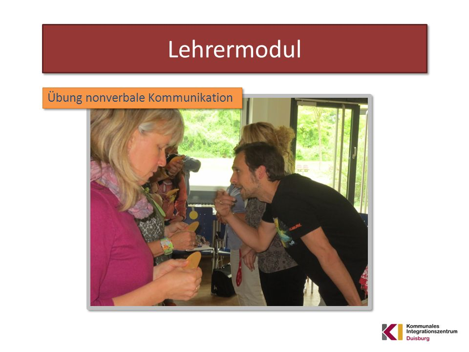 Lehrermodul Übung nonverbale Kommunikation