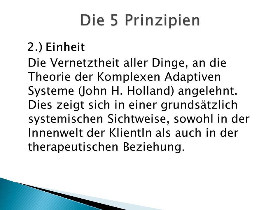 2.) Einheit Die Vernetztheit aller Dinge, an die Theorie der Komplexen Adaptiven Systeme (John H.