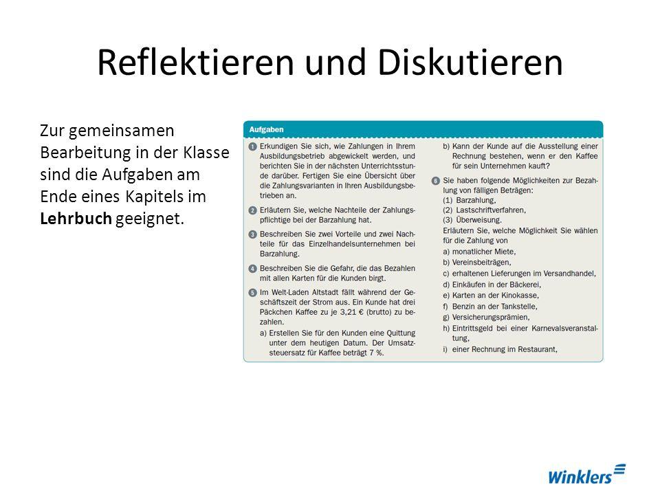 Üben und Lernen Die Erarbeitungsaufgaben im Arbeitsbuch begleiten die Vermittlung des Lernstoffs.