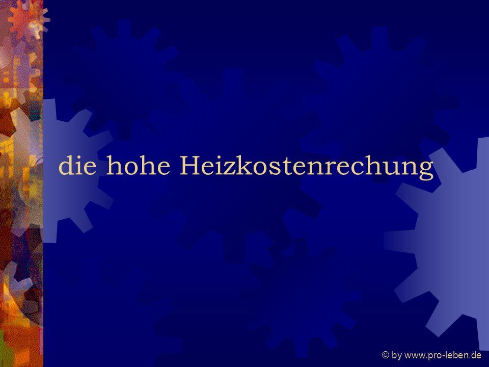© by www.pro-leben.de die hohe Heizkostenrechung