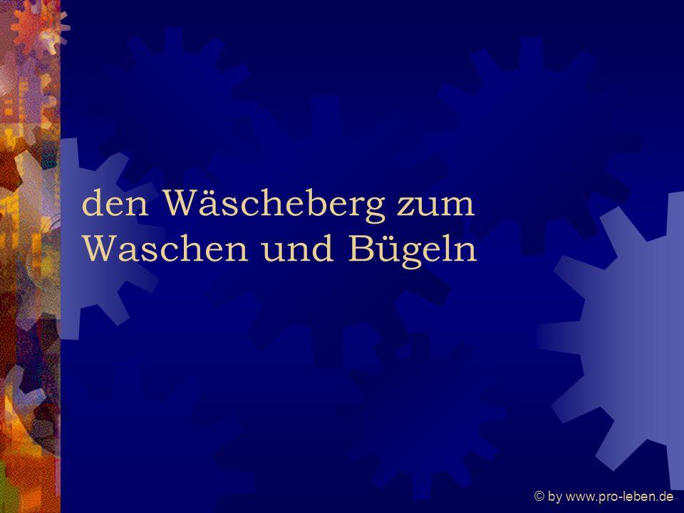 © by www.pro-leben.de den Wäscheberg zum Waschen und Bügeln