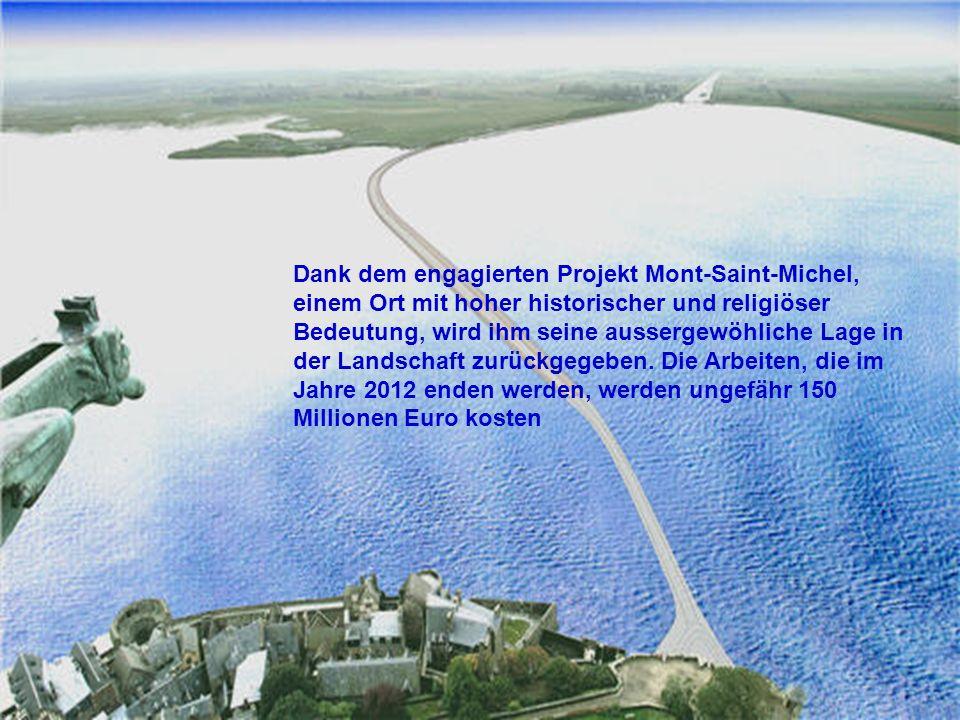 Der Pendelbus wird die Besucher 400 Meter vor dem Berg am Ende der Brücke aussteige lassen. Der Rest der Strecke wird zu Fuß auf der überschwemmbaren