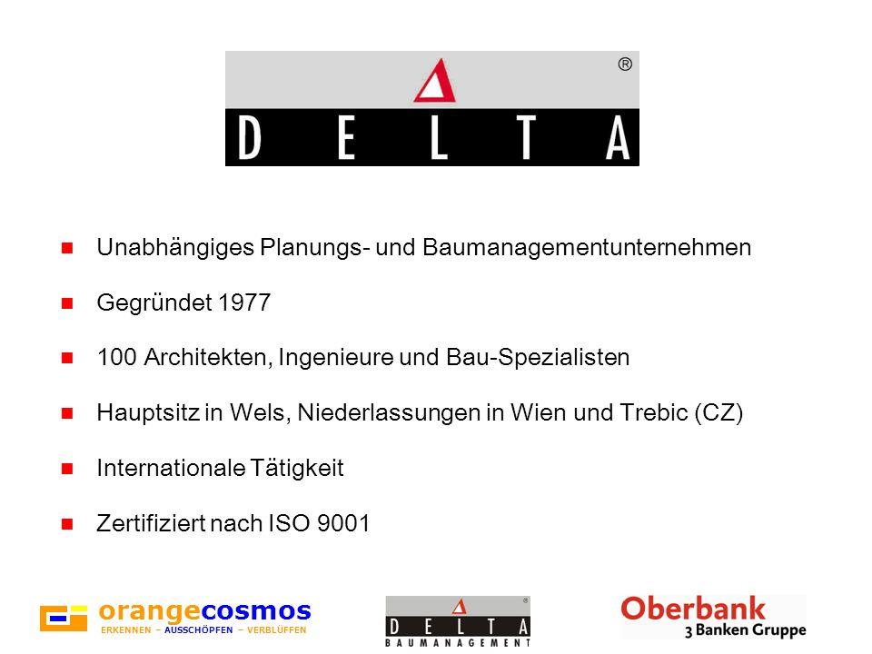 orangecosmos ERKENNEN – AUSSCHÖPFEN – VERBLÜFFEN Unabhängiges Planungs- und Baumanagementunternehmen Gegründet 1977 100 Architekten, Ingenieure und Ba