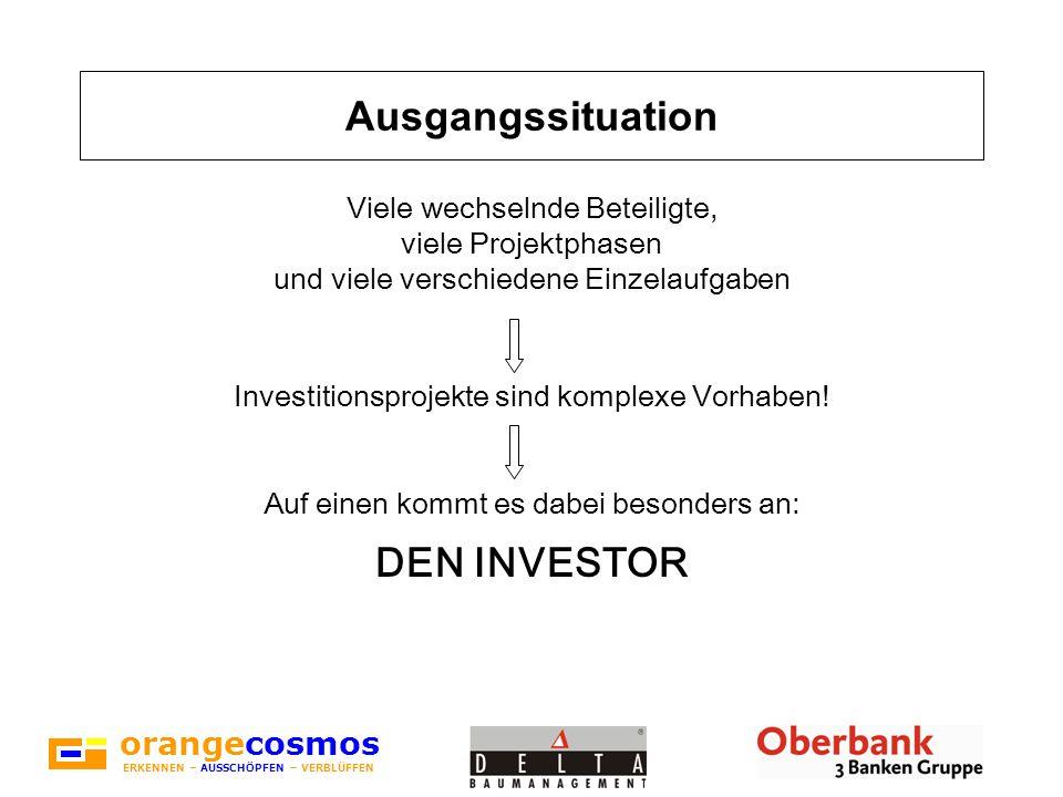 orangecosmos ERKENNEN – AUSSCHÖPFEN – VERBLÜFFEN Der Investor hat...