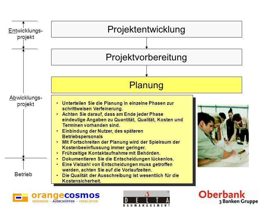 orangecosmos ERKENNEN – AUSSCHÖPFEN – VERBLÜFFEN Hier zeigt sich, ob Sie während der Planung Ihre Investoren- Aufgaben gut erledigt haben.