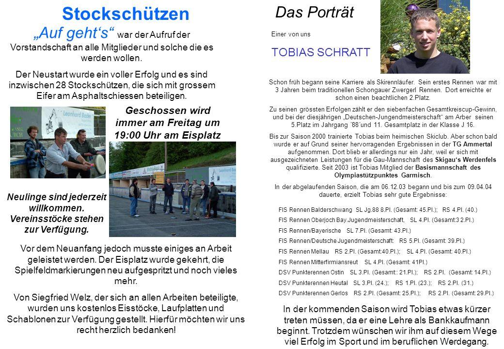 Kegelclub Hohenfurch Die Stockschützen nehmen nicht nur an Freundschafts- sondern auch an Pflichtturnieren teil.